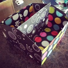 New cereal box organizer ~ CraftinMeHappy