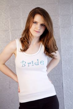 Crystal Bridal party racerback tank tops by meganbmalone on Etsy, $30.00