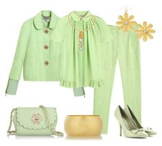 Verde pistacho by outfits-de-moda2 on Polyvore featuring moda, Mulberry, Bottega Veneta, Citrine by the Stones and Tiffany & Co.