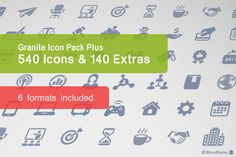 Granite Icon Pack Plus Graphics The pack consists of 543 simple vector icons and 140 extra versions available in 6 formats. The icon by Micro Store Png Icons, Vector Icons, Business Illustration, Pencil Illustration, Icon Design, Web Design, Graphic Design, Business Brochure, Business Card Logo