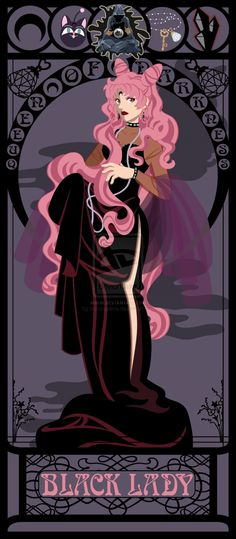 Art Nouveau Versions Of Heroines From 80′s And 90's Genre Movies - from Sailor Moon