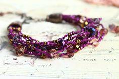 Crushing on #purple  Purple and Gold Bracelet /Boho Bracelet/Romantic by byHamelin