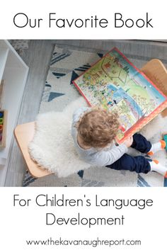 A look at our absolute favorite book - a treasured book for reading and for working on language development Preschool Activities At Home, Preschool Books, Montessori Activities, Toddler Activities, Montessori Books, Montessori Toddler, Toddler Development, Language Development, Family Child Care