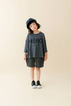 """Japanese label """"nunuforme"""" launched its first collection in Their collections are driven by two key words : fashionable and casual. Baby Girl Fashion, Kids Fashion, Retro Fashion, Urban Kids Clothes, Japanese Kids, Japan Outfit, Japanese Outfits, Stylish Kids, Cute Baby Clothes"""