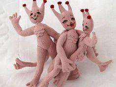 sea monkey plush dolls! Sea Monkeys, Mermaid Parade, Monkey Doll, Softies, Plushies, Craft Corner, Arts And Crafts Projects, Soft Dolls, Soft Sculpture