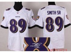 NFL Jersey's Men's Baltimore Ravens Steve Smith Sr Nike Purple Team Game 2015 Patch Jersey