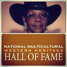 Cowgirl Hall of Fame Honoree, Mollie Stevenson Jr., will be induction in the National Multicultural Western Heritage Hall of Fame in June 2013.