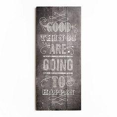 Graham & Brown Good Things Inspirational Quote Wooden Print Wall Art   Debenhams