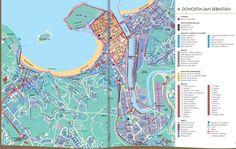 Map of DonostiaSan Sebastin Espaa Pinterest