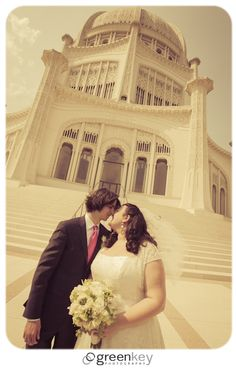Wedding Day at the Bahai Temple