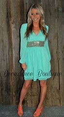 THE GLIMMERING GODDESS MINT CHIFFON DRESS love this place but all the cute things are sold out and take for ever to restock I love this one