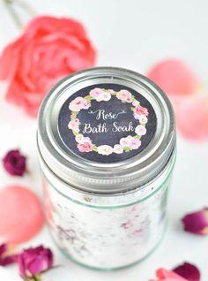 DIY Rose Petal Bath Soak