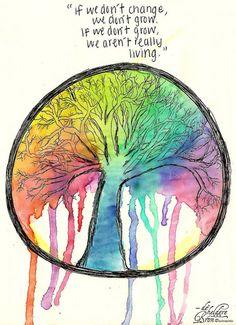 If we don't change, we don't grow. If we don't grow, we aren't really living.
