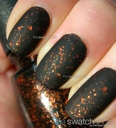 NOTD: China Glaze  Fortune Teller with Essie Matte About You | The Swatchaholic . a blog about nail polish and makeup