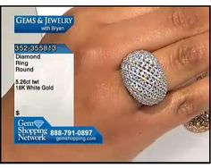 This dome ring is terrific and makes quite a statement with over 5 carats of diamonds.