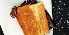 9 Speedy Desserts for Valentine's Day- Dark choc/sea salt on toasted baguette!