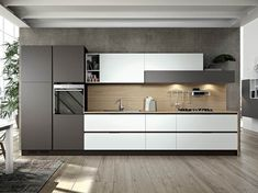 How To Incorporate Contemporary Style Kitchen Designs In Your Home Industrial Kitchen Design, Kitchen Room Design, Luxury Kitchen Design, Kitchen Dinning, Best Kitchen Designs, Kitchen Cabinet Design, Home Decor Kitchen, Interior Design Kitchen, Kitchen Modular