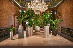 Caesarstone collaborated with London designer Philippe Malouin  in 2015 to create two different installations, which were both displayed at the Palazzo Serbelloni.