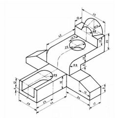99471959 Pin on CAD Practice drawings Autocad Isometric Drawing, Isometric Drawing Exercises, Mechanical Engineering Design, Mechanical Design, 3d Sketch, Sketch Design, 3d Modellierung, Cad 3d, Interesting Drawings