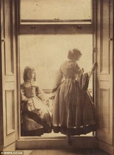 Photograph by photographer Lady Clementina Hawarden c. 1860s.   In the Swan's Shadow