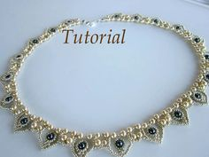 PDF Tutorial beaded necklace Hearts seed beads by BeadsMadness, $4.50