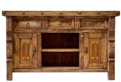 TV Console / Rustic TV Console / Media Console / by FoxDenDecor, $1025.00