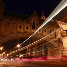 Photo about Christ Church Cathedral night shot in Dublin, Ireland with traffic. Image of motion, abstract, architecture - 11349116 Road Trippin, Long Exposure, Night Photography, Cathedral, Dublin Ireland, Europe, Stock Photos, Abstract, Architecture