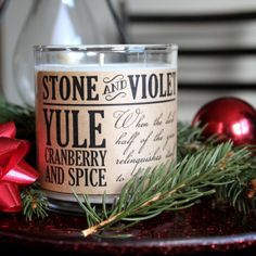Soy Candle - Yule | stoneandviolet