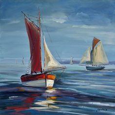 Maison d'enchères en ligne Catawiki: Christophe Gastaldi (1969-) - Bateaux de pêche
