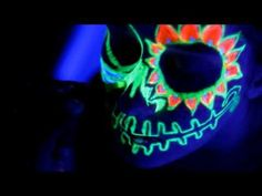 GLOW IN THE DARK FACE PAINT - YouTube