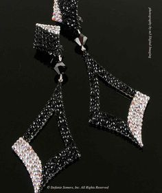 ANA Swarovski Crystal Drop Earrings, classic SSC. When simple just won't do. Play to the balcony at your next event with Stefanie Somers Couture. Handcrafted
