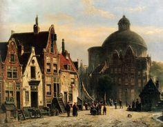 De Lutherse Kerk Amsterdam - Willem Koekkoek