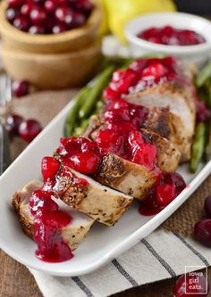 Roasted pork fillet with cranberry and pear sauce is simple and satisfying. – … Roasted pork fillet with cranberry and pear sauce is simple and satisfying. Roast Pork Fillet, Pork Tenderloin Recipes, Pork Chops, Radish Recipes, Pork Recipes, Cooking Recipes, Recipies, Cooking Pork, Family Recipes
