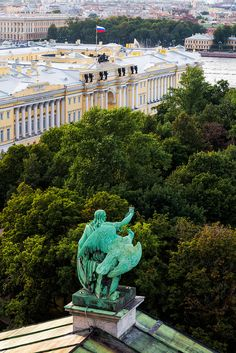 """Russia: """"Angel's View"""" – view over St Petersburg as seen from St Isaac's Cathedral."""