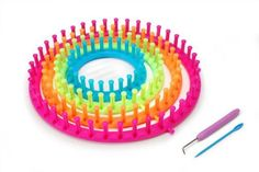 #cool Set of 4 #round knitting looms in 4 bright neon colors. Sizes: 11-inch, 9-inch 7-inch and 5-1/2-inch Includes instructions for #making a stylish yarn hat. I...