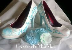 Excited to share the latest addition to my #etsy shop: Cinderella Inspired Customised Shoes/ Wedding Shoes/ Customised Wedding Shoes/ Cinderella converse/ Cinderella pumps http://etsy.me/2D9n34B
