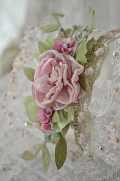Jennelise: Lambs and Ivy Wrist floral silk corsage