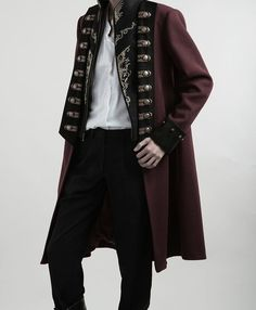 Lost Angel -Spirit of Knight- Embroidery Ouji Lolita Military Lolita Jacket Male Version Pretty Outfits, Cool Outfits, Fashion Outfits, Traje Casual, Drawing Clothes, Character Outfits, Look Cool, Costume Design, Victorian Fashion