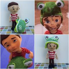Whose seen the new Caleb video? Soooo cute just HAD to make him a frog hat!! if you haven't seen it you can find it on jw.org under children #ami #crochet #crocheting #crochetlover #kawaii #caleb #calebandsophia #jw #doll #dolls #frog #froghat #amigurumi #becomejehovahsfriend #bepatient #ooak #diy #handmade #worldofartists #hobby #gift #calebdoll #crochetcaleb #yarn #yarnaddict #yarnlove #cute by reneeyarning