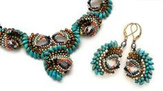 Create stunning jewelry using a wide assortment of colorful seed beads to form curved shell-shaped components.