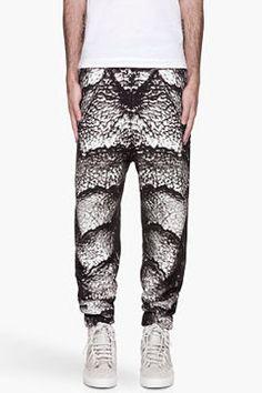 http://www.shopstyle.com: CHRISTOPHER KANE Grayscale Creature print sweatpants