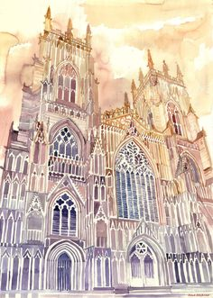New Architectural Watercolors By Polish Architect Maja Wrońska | Bored Panda