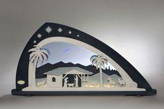 """Schwibbogen LED Bethlehem #ChristiGeburt #Bethlehem #Jesus #Schwibbogen #Erzgebirge #Volkskunst """"Stern über Bethlehem, zeig uns den Weg, führ uns zur Krippe, zeig wo sie steht"""" lauten die ersten Zeilen des bekannten Weihnachtsliedes """"Stern über Bethlehem"""". Maria und Josef haben sich an jenen Stern orientiert, um den Weg in die..."""