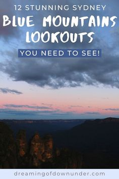 Discover where to find 12 amazing lookouts in the Blue Mountains Australia. Less than two hours from Sydney, a Blue Mountains day trip is a must! #sydney #mountains #travel