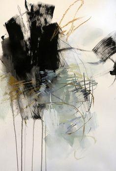 Black and White Abstract 2 by Debora Stewart Acrylic ~ x 13 Black And White Artwork, Black And White Abstract, Black And White Landscape, Abstract Watercolor, Abstract Canvas, Cl Birthday, Art Noir, Arte Black, Texture Art