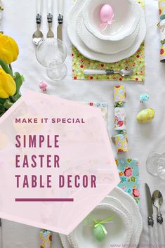 Have the perfect Easter party with these table decor ideas. Easter table centrepieces, napkins, and decorations for your special Easter lunch Floral Decorations, Easter Table Decorations, Easter Lunch, Easter Party, Centrepieces, Table Centerpieces, Childrens Artwork, Plastic Easter Eggs, Easter Activities