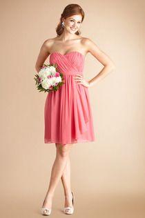 Lindsey dress by Donna Morgan Bridesmaids #DonnaMorganBridesmaids #honeysuckle #Weddings