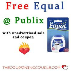 Equal Sweetener Free at Publix Now ~ Unadvertised Sale with matching coupon make this a really Sweet Deal to get in on for those of us who use sweetener.***  Click the link below to get all of the details ► http://www.thecouponingcouple.com/equal-sweetener-free-at-publix-now/ #Coupons #Couponing #CouponCommunity  Visit us at http://www.thecouponingcouple.com for more great posts!