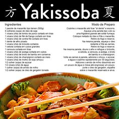 Que tal uma receita deliciosa de Yakissoba!  Fique de olho em nossas postagens (;