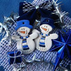 sněhulák - keramika 4th Of July Wreath, Hanukkah, Pottery, Ornaments, Christmas, Tea Kettles, Blues, Decor, Holidays